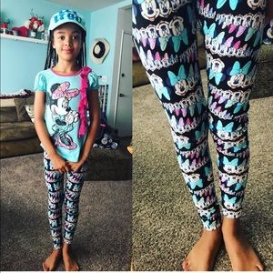 Tween Minnie Mouse LuLaroe Leggings